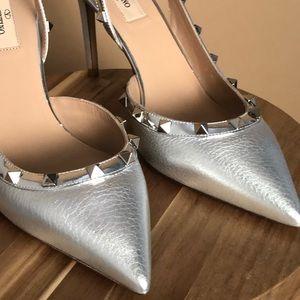 Silver Valentino Heels   Poshmark